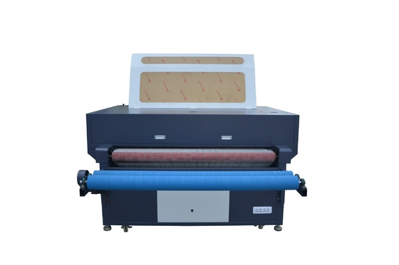 Auto Blowing Roll Fabric Laser Cutting Machine Industrial Easy Operation