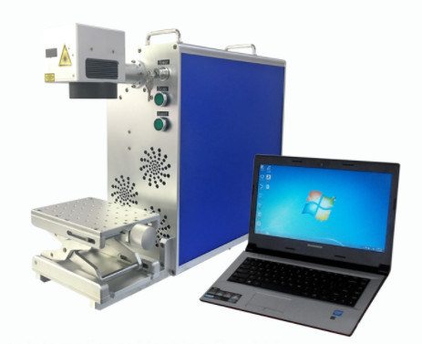 Compact Desktop Fiber Laser Marking Machine For Led Bulbs Light Shadows