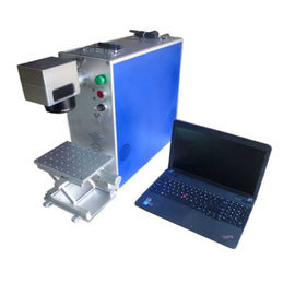 Small Portable Fiber Laser Marking Machine JCZ Control Software For Plastic